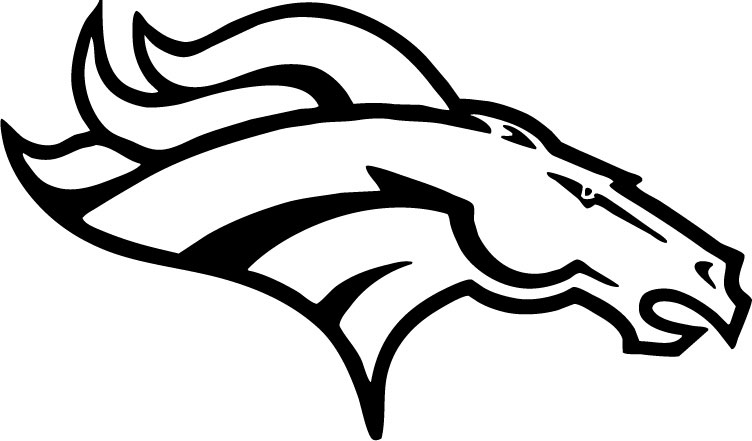 Free Coloring Pages Of Broncos Helmet